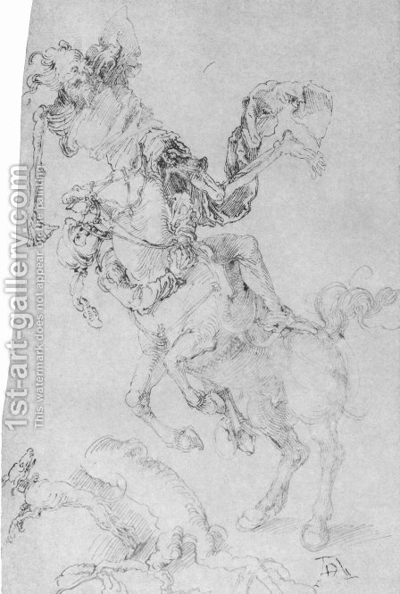 Death and rider by Albrecht Durer - Reproduction Oil Painting