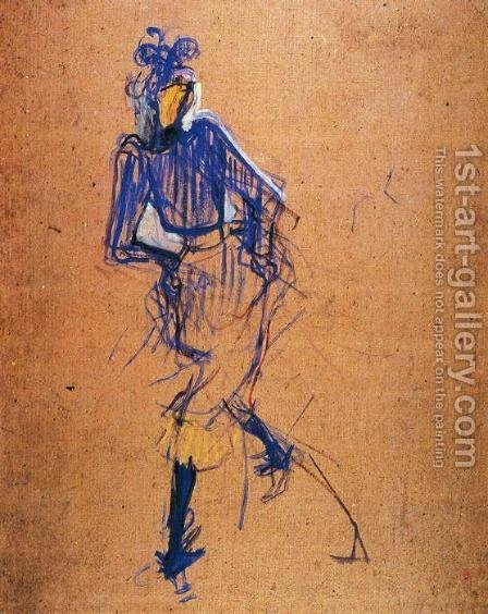 Jane Avril Dancing 3 by Toulouse-Lautrec - Reproduction Oil Painting