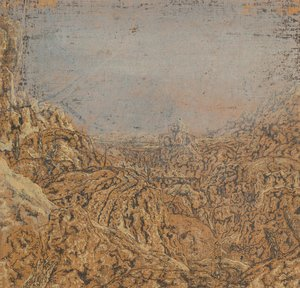 Reproduction oil paintings - Hercules Seghers - Mountain Gorge Bordered by a Road