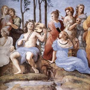 Reproduction oil paintings - Raphael - The Parnassus, from the Stanza delle Segnatura (detail) 2