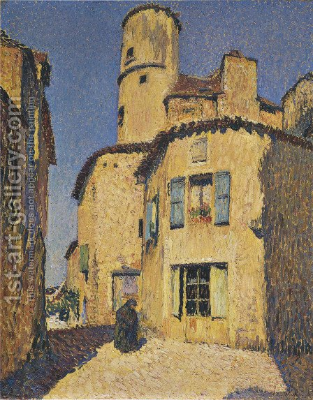 Houses for Gigouzac by Henri Martin - Reproduction Oil Painting