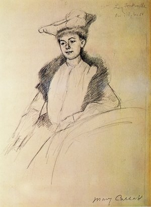 Reproduction oil paintings - Mary Cassatt - Portrait of Mme. Fontveille