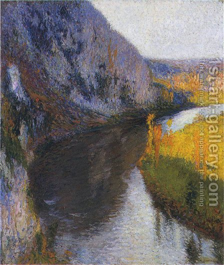 The Cliffs of Lot by Henri Martin - Reproduction Oil Painting