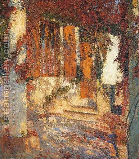 At the Pergola by Henri Martin - Reproduction Oil Painting