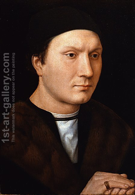 Portrait of an Unknown Man with a Letter by Hans Memling - Reproduction Oil Painting