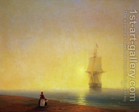 Morning at Sea by Ivan Konstantinovich Aivazovsky - Reproduction Oil Painting