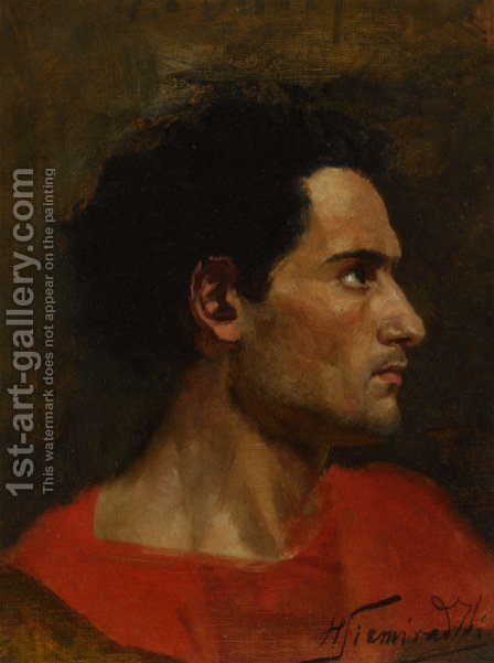 Man in Profile by Henryk Hector Siemiradzki - Reproduction Oil Painting
