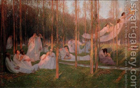 Serenity, illustration for Book VI of the Aeneid by Henri Martin - Reproduction Oil Painting