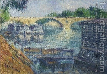 Boats on the Seine by Gustave Loiseau - Reproduction Oil Painting