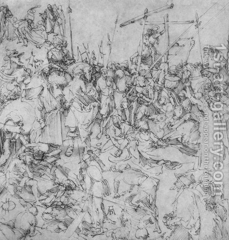 Studies of a Calvary by Albrecht Durer - Reproduction Oil Painting