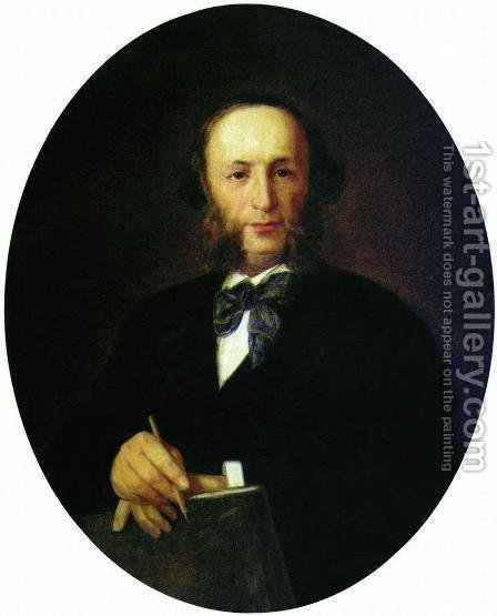 Portrait of the Artist I.K. Aivazovsky by Ivan Nikolaevich Kramskoy - Reproduction Oil Painting