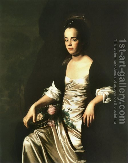 Portrait of Mrs. John Stevens (Judith Sargent, later Mr. John Murray) by John Singleton Copley - Reproduction Oil Painting