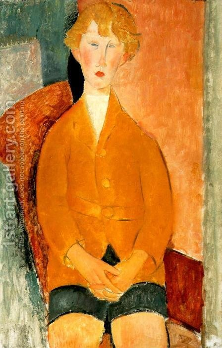Boy in Shorts by Amedeo Modigliani - Reproduction Oil Painting