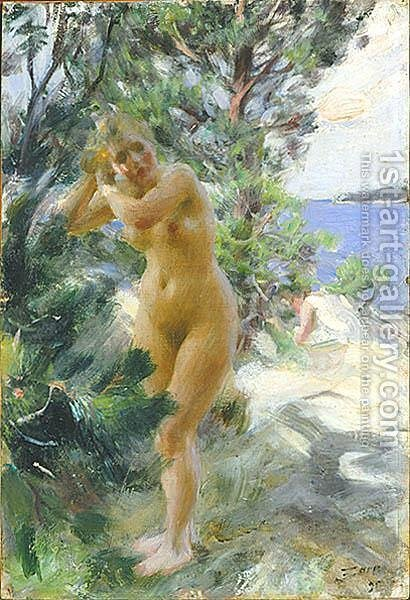 After the bath by Anders Zorn - Reproduction Oil Painting