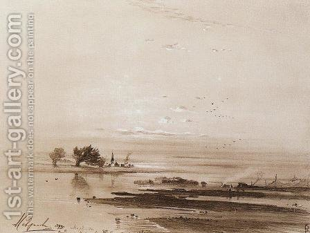 Early spring. Flood by Alexei Kondratyevich Savrasov - Reproduction Oil Painting