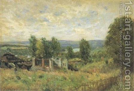 Landscape in Summer by Alfred Sisley - Reproduction Oil Painting