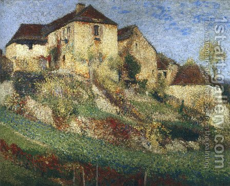 Landscape with House by Henri Martin - Reproduction Oil Painting