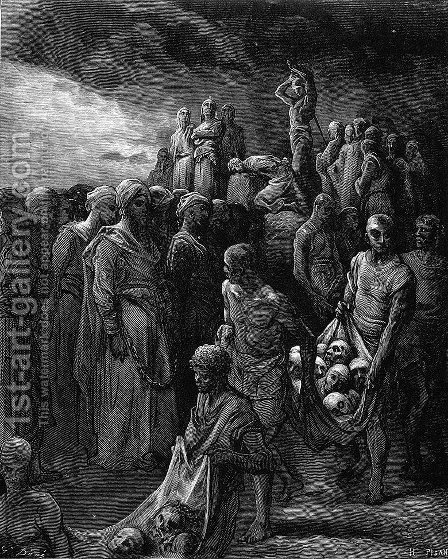 Richard I the Lionheart massacres captives in reprisal by Gustave Dore - Reproduction Oil Painting