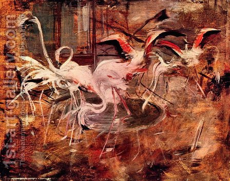 Pink Palace Ibis in the Vesinet by Giovanni Boldini - Reproduction Oil Painting
