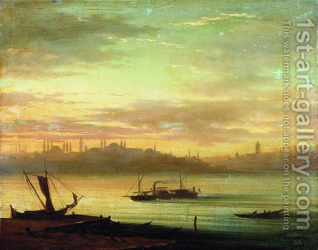 View of the Bosporus by Ivan Konstantinovich Aivazovsky - Reproduction Oil Painting