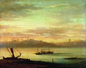 Reproduction oil paintings - Ivan Konstantinovich Aivazovsky - View of the Bosporus