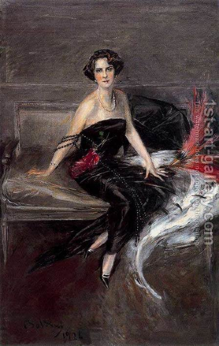 The Marquesa de Pinar del Rio by Giovanni Boldini - Reproduction Oil Painting