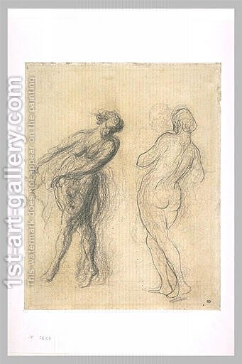 Two sketches for a dancer by Honoré Daumier - Reproduction Oil Painting