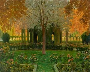 Reproduction oil paintings - Santiago Rusinol i Prats - Jardines de Aranjuez 5