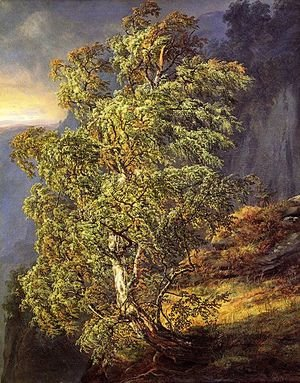Famous paintings of Trees: Bjerk i storm