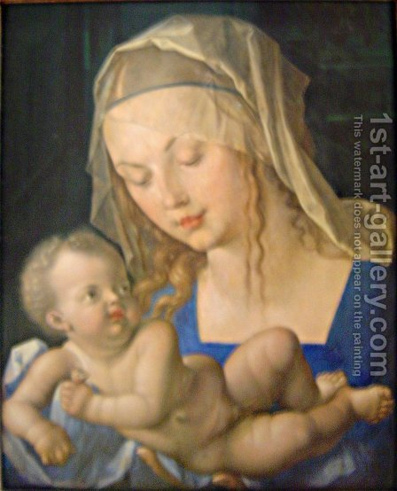Mary and child by Albrecht Durer - Reproduction Oil Painting