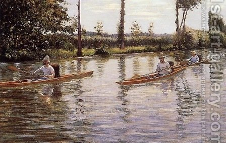 The Canoe by Gustave Caillebotte - Reproduction Oil Painting