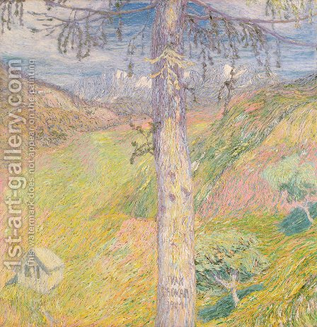 Larch by Ivan Grohar - Reproduction Oil Painting
