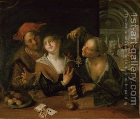 Matchmaking scene by Hans Von Aachen - Reproduction Oil Painting