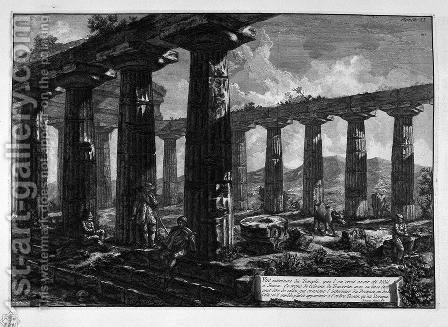 Inside the Temple by Giovanni Battista Piranesi - Reproduction Oil Painting