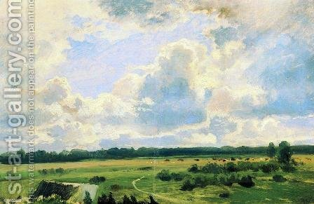 Cloudy day by Ivan Shishkin - Reproduction Oil Painting