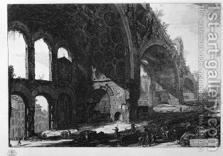 Basilica of Maxentius by Giovanni Battista Piranesi - Reproduction Oil Painting
