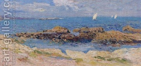 Near Saint Malo by Henri Martin - Reproduction Oil Painting