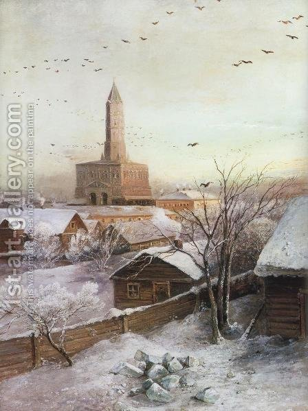 Early Spring. Flood 2 by Alexei Kondratyevich Savrasov - Reproduction Oil Painting