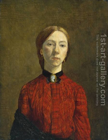 Self Portrait 2 by Gwen John - Reproduction Oil Painting