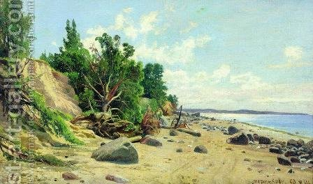 Beach by Ivan Shishkin - Reproduction Oil Painting