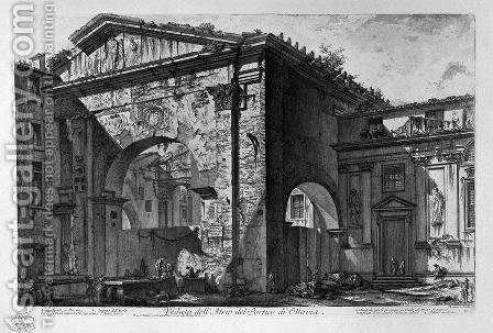 Remains of a covered porch, or cryptoporticus, in a villa of Domitian five miles distant from Rome on the Via Frascati by Giovanni Battista Piranesi - Reproduction Oil Painting