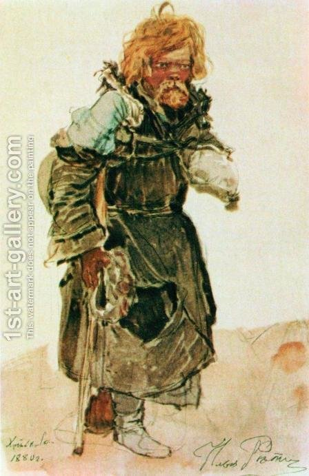 Pilgrim 2 by Ilya Efimovich Efimovich Repin - Reproduction Oil Painting