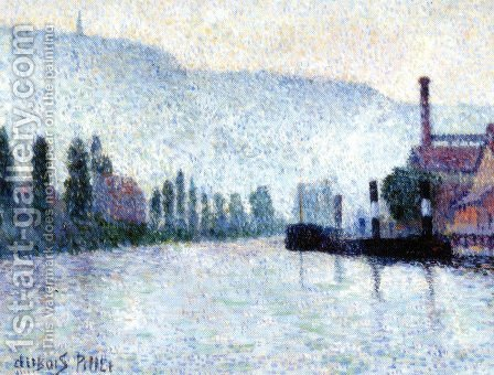 Rouen, La Seine et les Collines a Canteleu by Albert Dubois-Pillet - Reproduction Oil Painting