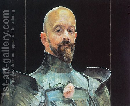 Self-portrait in Armour by Jacek Malczewski - Reproduction Oil Painting