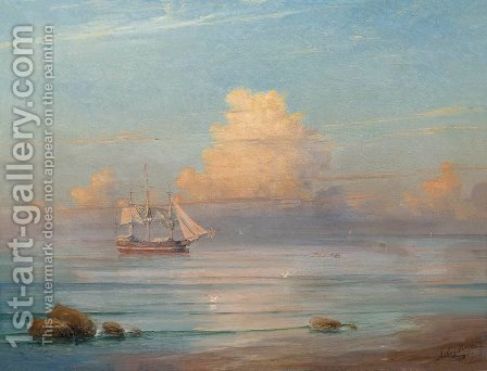 Sea view 4 by Ivan Konstantinovich Aivazovsky - Reproduction Oil Painting
