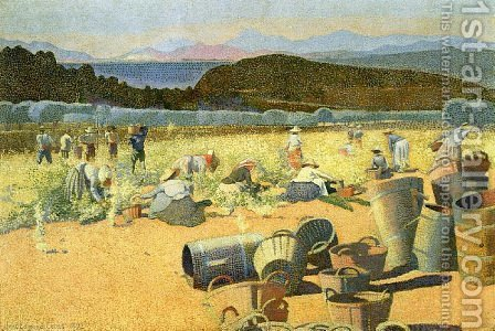 The Grape Harvest by Henri Edmond Cross - Reproduction Oil Painting
