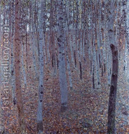 Buchenhain by Gustav Klimt - Reproduction Oil Painting