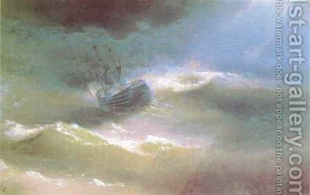 The Mary Caught in a Storm by Ivan Konstantinovich Aivazovsky - Reproduction Oil Painting