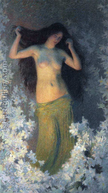The Beauty by Henri Martin - Reproduction Oil Painting