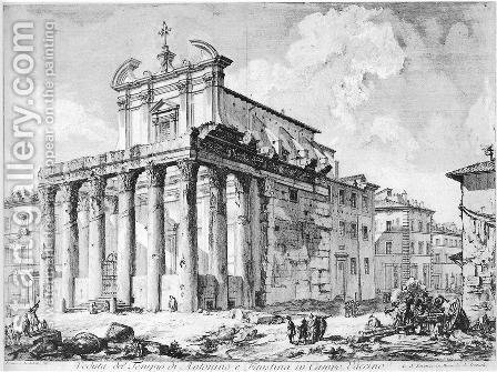 Vedute di Roma 55 by Giovanni Battista Piranesi - Reproduction Oil Painting